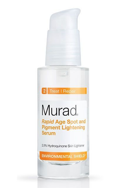 Remember how Dr. Shah called hydroquinone the gold-standard of brightening ingredients? It's in here, along with glycolic acid to remove dead skin cells, which allows the hydroquinone to penetrate more deeply.Murad Rapid Age Spot and Pigment Lightening Serum, $60, available at Sephora. #refinery29 http://www.refinery29.com/best-dark-spot-corrector#slide-17