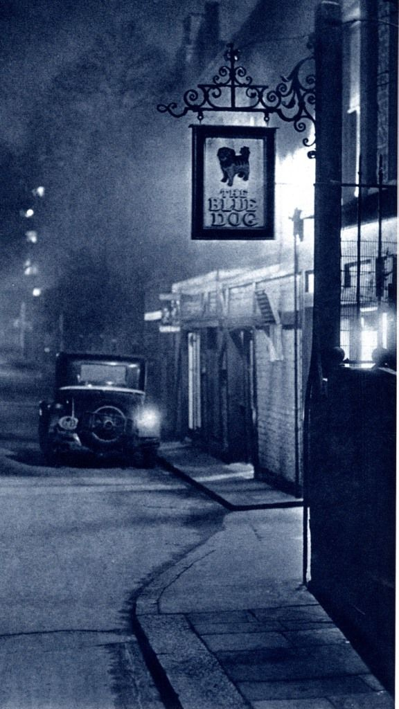 """""""The Blue Dog"""" from London Night – John Morrison and Harold Burked 1934. Right out of an Agatha Christie mystery."""
