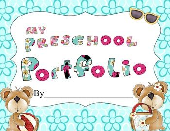 This is a cute bear themed Preschool year long portfolio that includes a cover page, a beginning and end of the year name sample form, a number writing form, a 100's day picture form, two friend pages and various holiday pictures that you can have the students draw a picture, or you can add photographs.