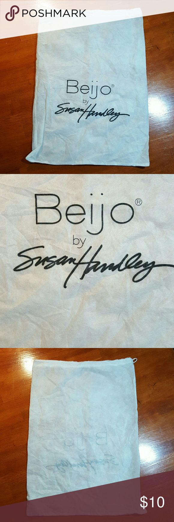 Bijo by susan handley dust bag White...black lettering..in great condition beijo Bags