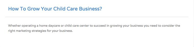 Want to learn how to grow your child care business? Read Pudink EdTech blog  http://pudink.com/posts/8-how-to-grow-your-child-care-business