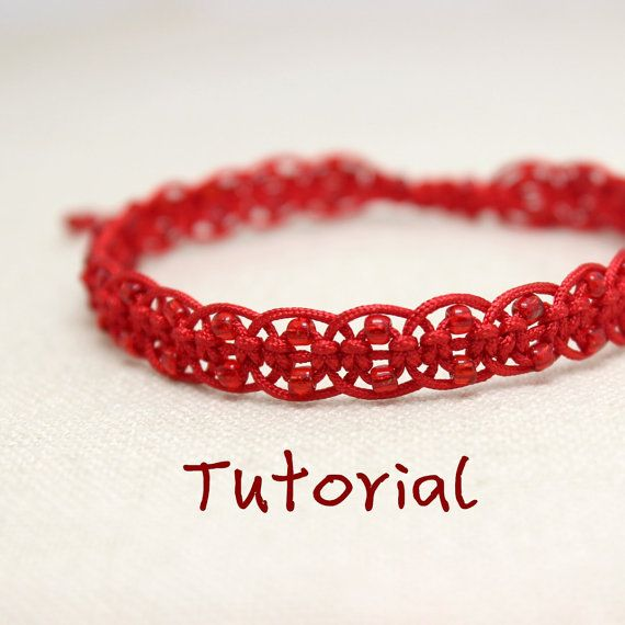  This bracelet tutorial is easy enough for those who have no knotting experience. After learning this, you can use the skills to make bracelets of different styles by changing cords and colors.  If you have some colorful cords, beads, scissors and a lighter, you can just pay, download it instantly and start to make this lovely bracelet!   The tutorial is in English, PDF format, including three parts: ------ Basic knot tutorial-Flat Knot.pdf---You need to learn this knot before making…
