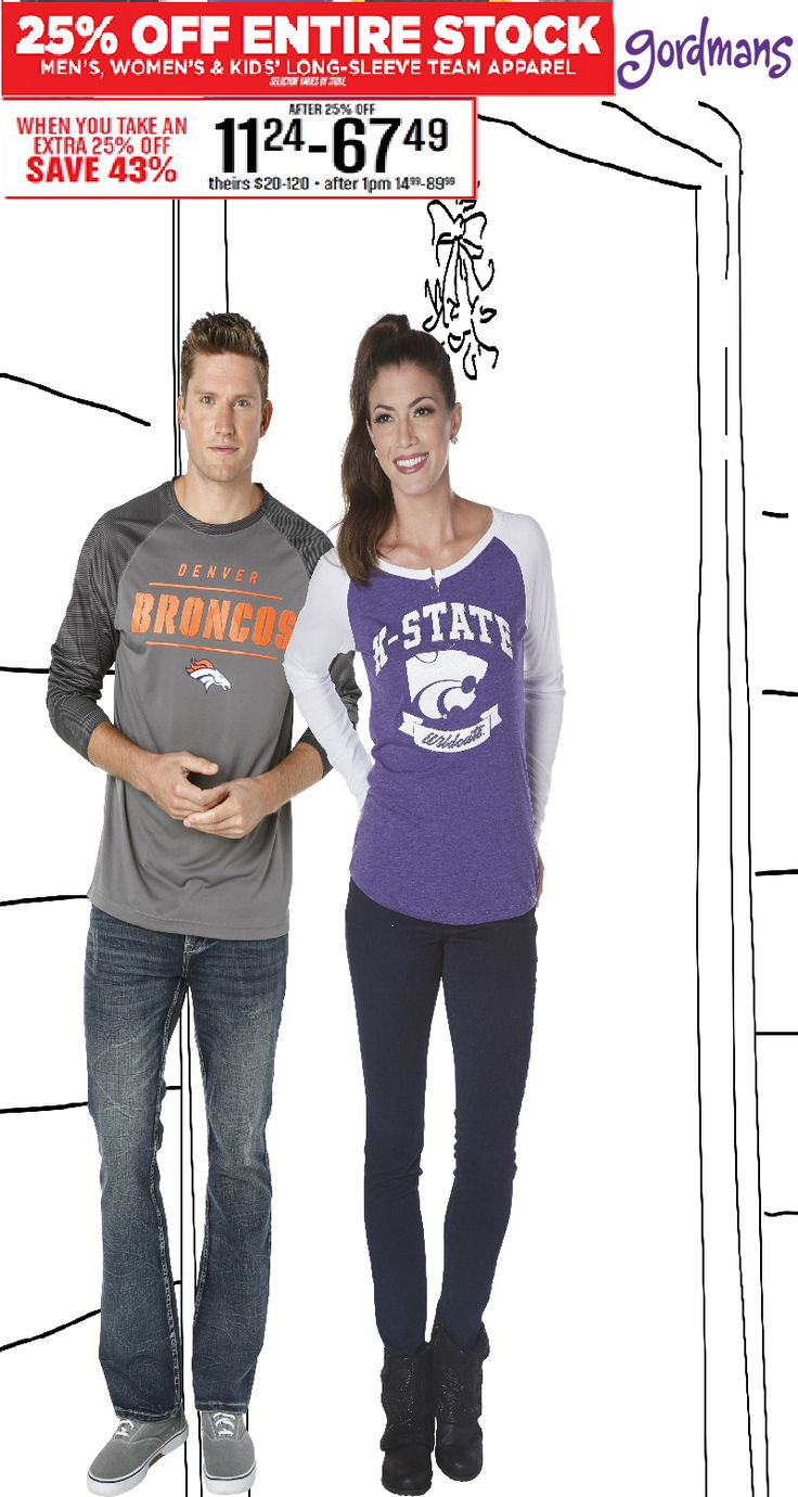 Team apparel for the whole family! Get everyone something with their favorite team to wear this Christmas! Check out our Black Friday ad online now!