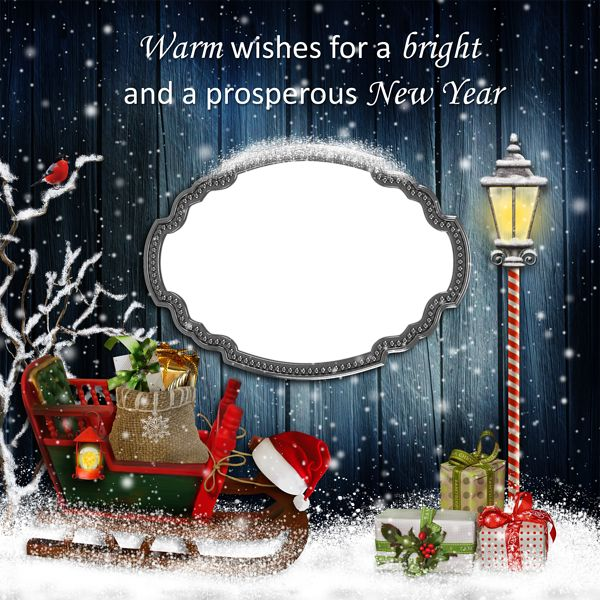 New Year and Christmas PNG Frame