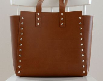 Women Tote Bag Minimalist and Simple Leather by craftagaccessories