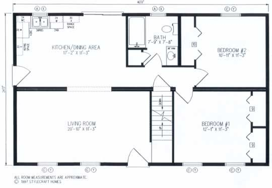 24x40 Floor Plan Cape Cod Floorplans Small Home Design