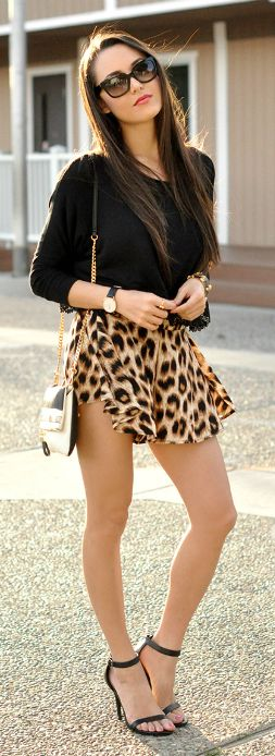 Lazy Leopard By Hapa Time Steal The Fashion: Gorgeous dress black fur Summer outfits Teen fashion Cute Dress! Clothes Casual Outift for • teens • movies • girls • women •. summer • fall • spring • winter • outfit ideas • dates • school • parties mint cute sexy ethnic skirt