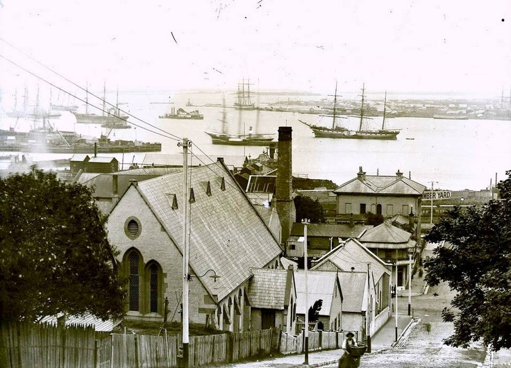 Newcastle NSW early days, love the ships