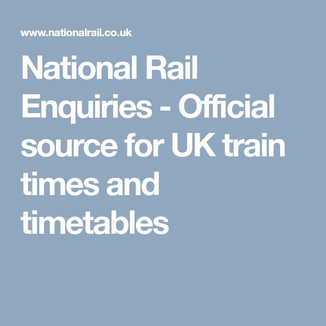 National Rail Enquiries - Official source for UK train times and timetables