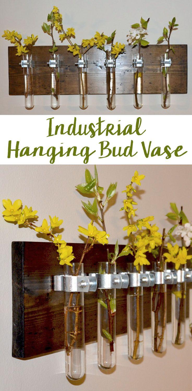 Super cute!!   Hanging Test Tube Bud Vase