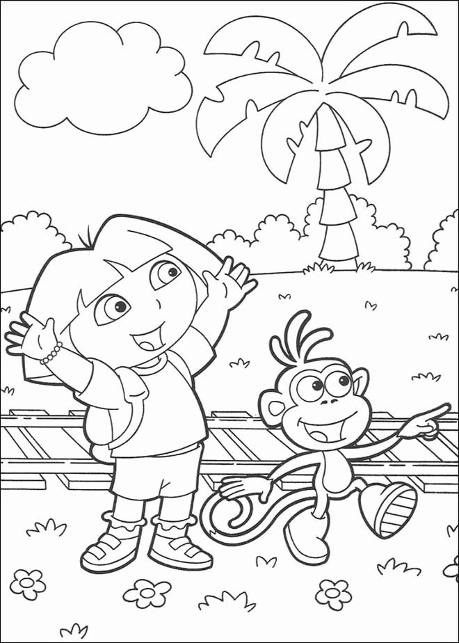 Dora The Explorer Coloring Page Lovely 166 Best Images About Dora Coloring Pages On Pinterest Dora Coloring Cartoon Coloring Pages Coloring Books