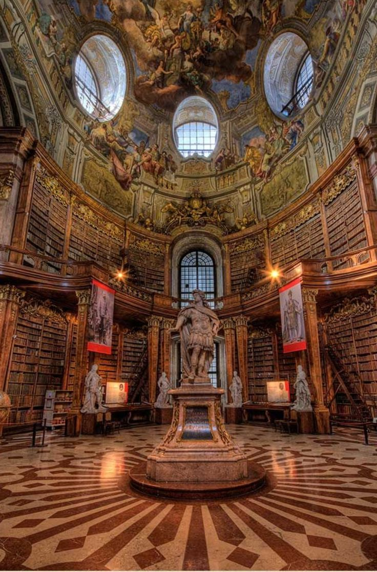Hofburg Palace library – Vienna, Austria.