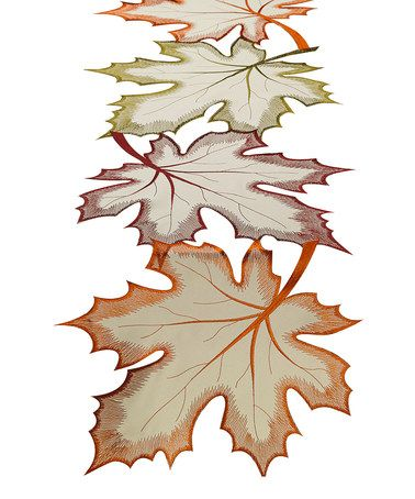 Another great find on #zulily! Maple Leaves Embroidered Table Runner #zulilyfinds