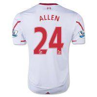 15-16 Liverpool Football Shirt Cheap ALLEN #24 Away Replica Jersey [C178]