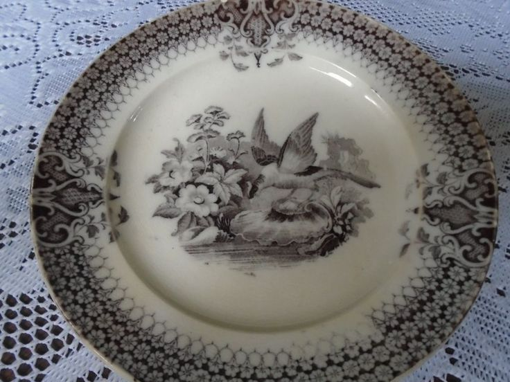 VILLEROY & BOCH MULBERRY PLATE INDIA PATTERN WITH BIRDS #VilleroyBoch