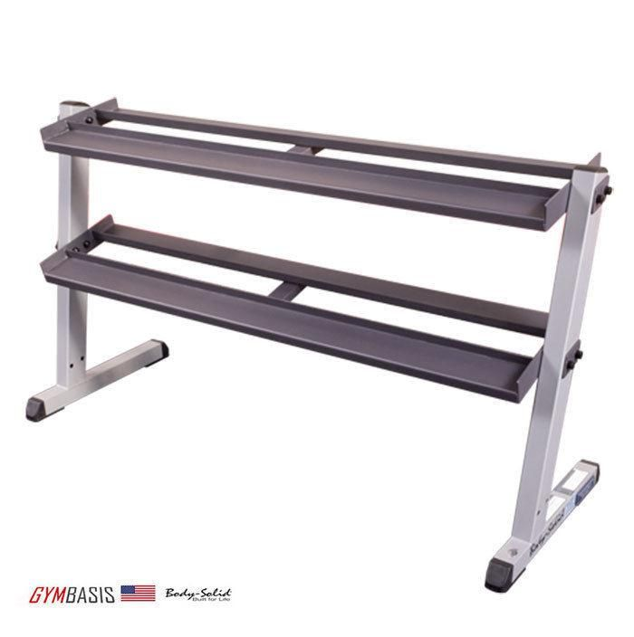NEW Body-Solid GDR60 2-Tier Horizontal Hex / Round Dumbbell Rack