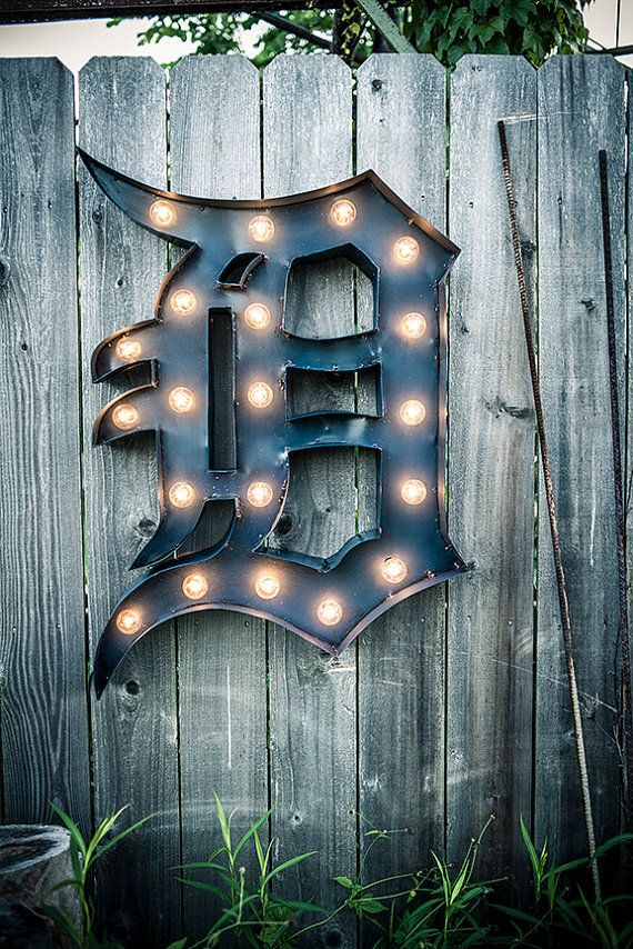 Vintage Marquee Sign  Detroit Tiger's D  by VintageLightCompany, $450.00