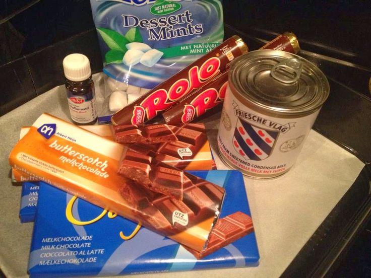 Lekker eten met Marlon: Chocoladefudge. Gecondenseerde melk, chocolade en pepermunt, een h...