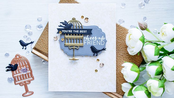 Creative Cafe Designer Spotlight: Cheer Up Friend Card Using The NEW Prizm Die Cutting And Embossing Machine