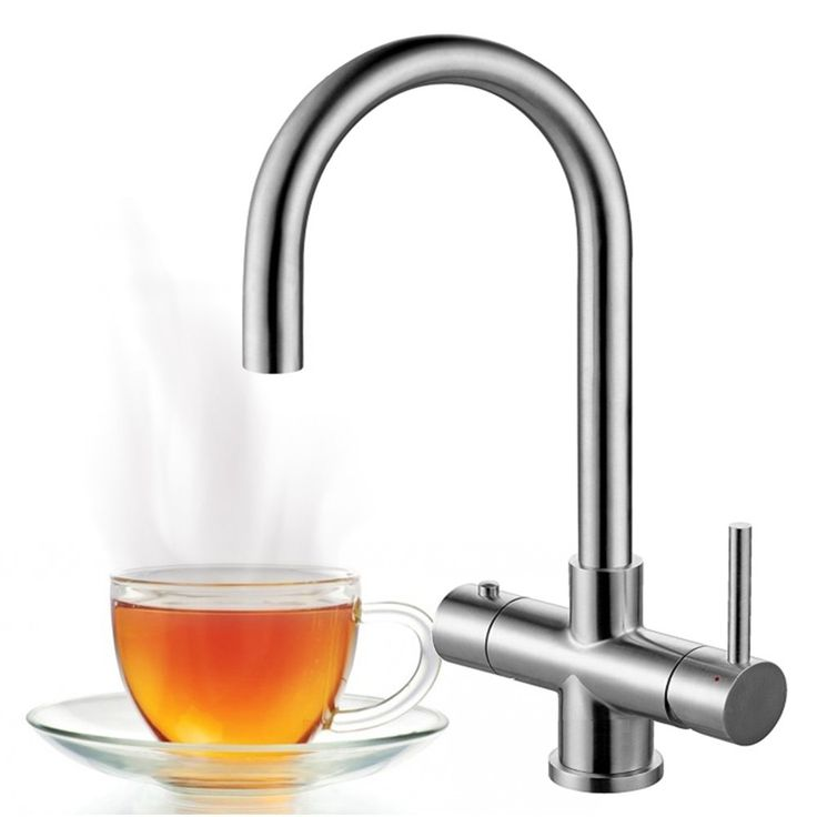 Astini Bollente 3 In 1 Ambient & Hot Water Stainless Steel Kitchen Sink Mixer Tap