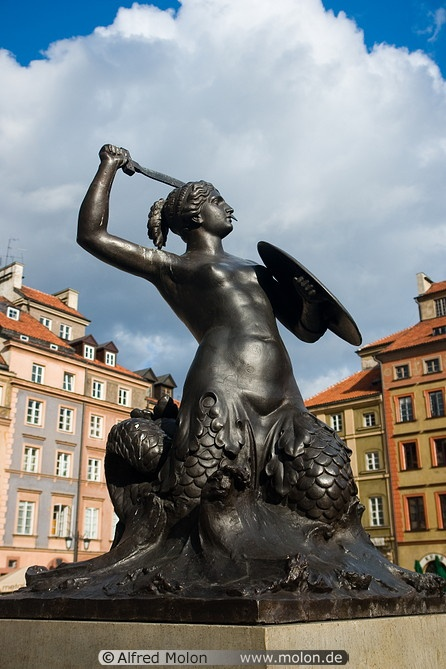 The mermaid of Warsaw