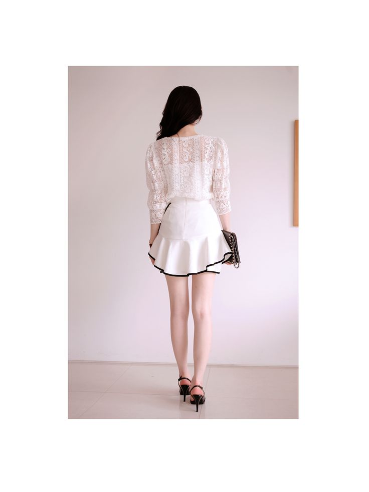 Romantic White Lace Blouse  #sthsweet #somethingsweet #Lacedress