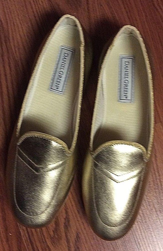 39ff567fb311d Daniel Green Women s House Slippers Meg 8W Metallic Gold New Without Box  Ret  50  DanielGreen