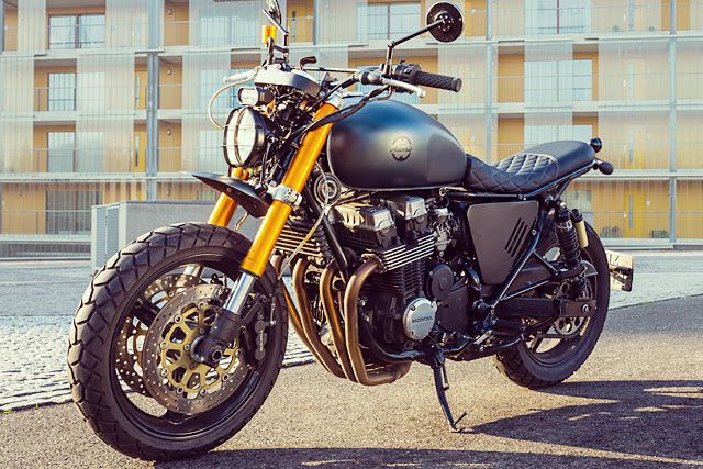 Americans don't know how lucky they are. It seems to us outsiders that you could weld a set of wheels to an Exocet missile and it would still be considered a roadworthy bike in all 50 states. But for the rest of us - especially those in the EU..., http://www.pipeburn.com/home/2017/11/20/honda-cb750-scrambler-netherlands.html