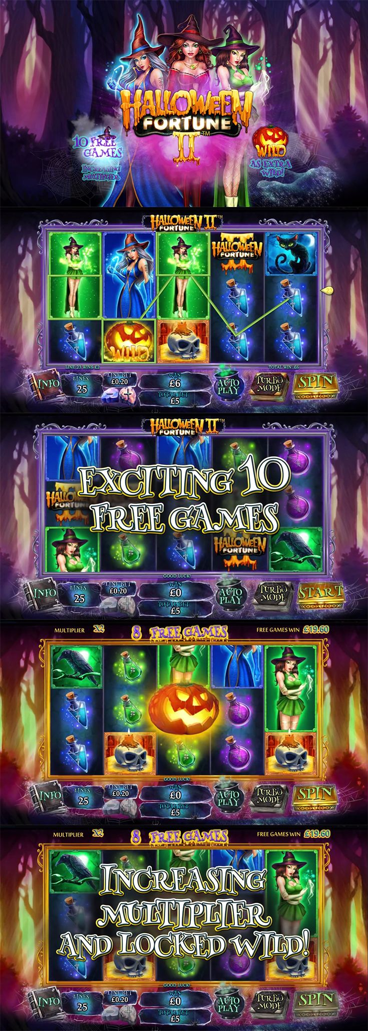 If you loved the original Halloween Fortune slot by Playtech, then you'll be pleased to know there's a sequel slot on the way!  --  #Playtech #OnlineSlot #Halloween