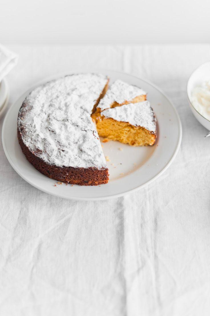 bergamot polenta cake