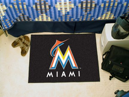 Miami Marlins 19in x 30in Starter Mat