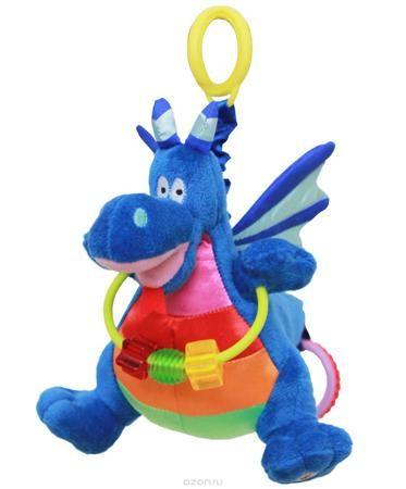 """WeeWise Подвесная игрушка для коляски и автокресла """"Дракон Джеки""""  — 914р.  Игрушка крепится к козырьку –тенту прогулочной коляски или к ручке детского автокресла категории 0+. «Дракон Джекки» выполнен в ярких цветах , обладает движущимися частями и снабжен звуковыми элементами. Игрушка способствует развитию зрительного, слухового и тактильного восприятия. Стимулирует хватательные навыки ребенка, помогает тренировке мелкой моторики рук."""