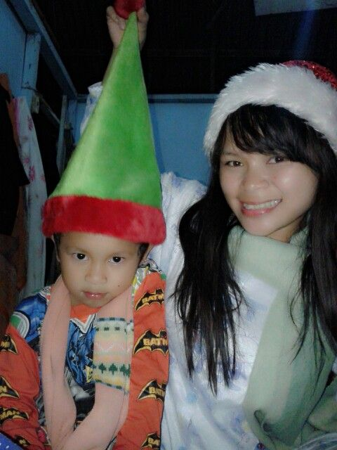 With litle brother. Like kurcaci :)
