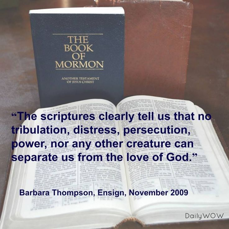 """""""The scriptures clearly tell us that no tribulation, distress, persecution, power, nor any other creature can separate us from the love of God.""""   ~Barbara Thompson"""