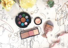 Holiday Makeup Kiko Face Palette Eyeshadow Glitter Palette Brush