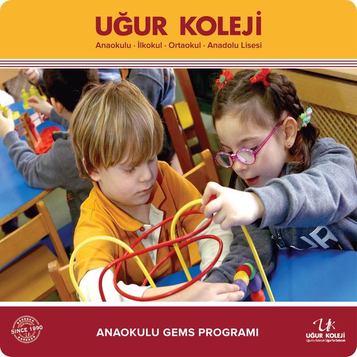 Anaokullarımızda, öğrencilerin temel fen ve matematik kavramlarını anlamaları ve günlük yaşantılarındaki sorgulama alışkanlığı edinmelerini Gems Programı (Great Explorations in Math ve Science) ile sağlıyoruz.