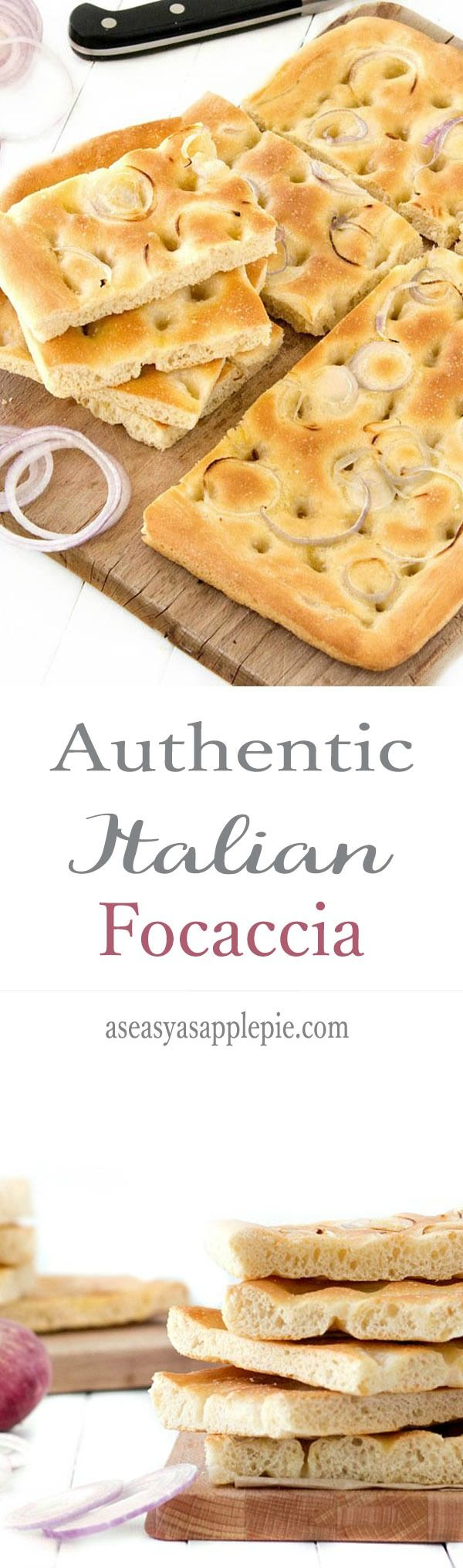This authentic Italian focaccia is very easy and quick to make, perfect recipe for beginners  Focaccia is very versatile, it can be eaten plain, with different toppings, as a pre-dinner nibble or it can be used for sandwiches