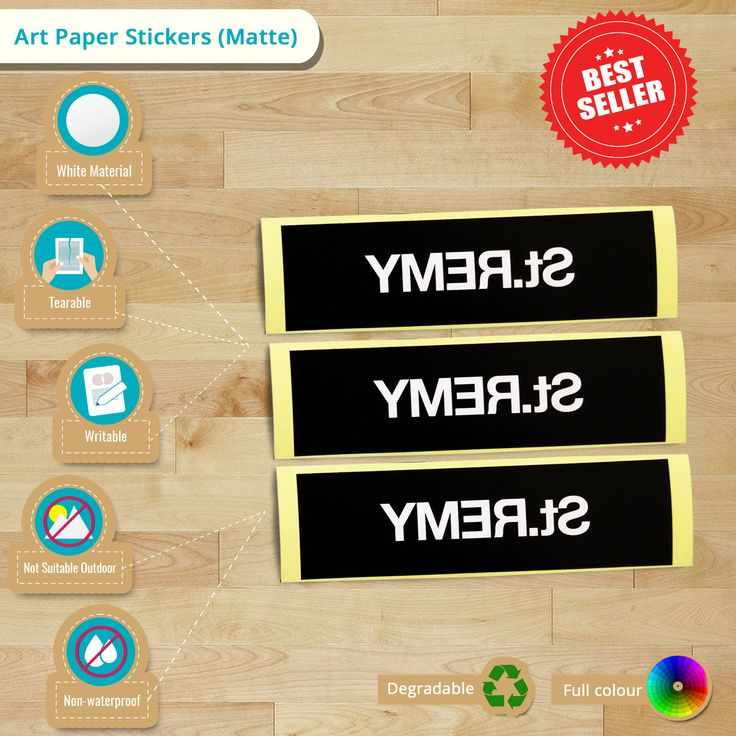 How to identify a #mattesticker? Check out these #ArtPaper #Stickers (Matte) #infographic. It helps you to decide with your branding.