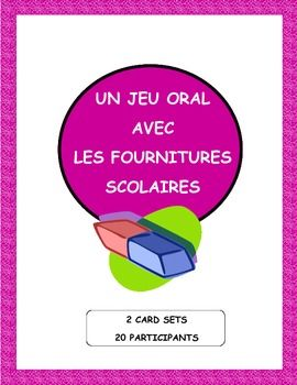 Magic Circle Game with French school supply vocabulary.  Ideal for Back to School! Parfait pour la Rentrée!