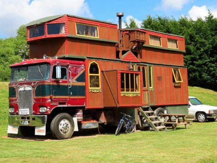 Разные дома на колёсах. Интересные фото