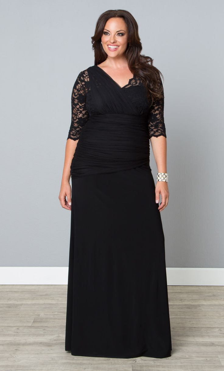 """Our plus size Soiree Evening Gown is a unique dress, perfect for the """"out-of-the-box"""" bride or a stylish wedding guest.  www.kiyonna.com  #KiyonnaPlusYou  #MadeintheUSA  #Formal  #Style"""