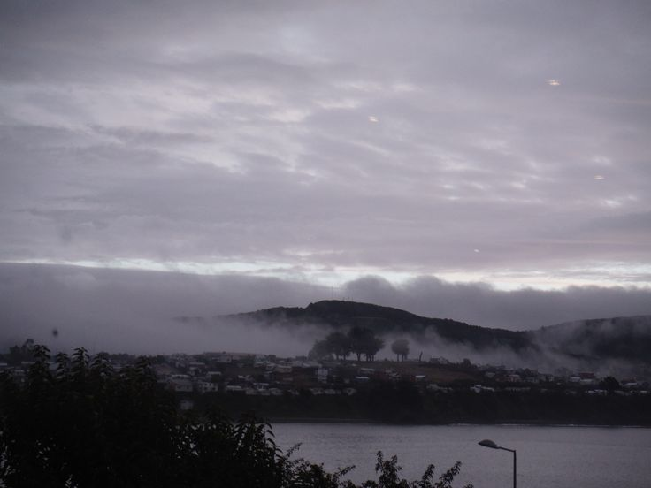 Mysterious Ancud peninsula in the fog