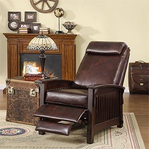 nice leather recliner - Mission Style Recliner