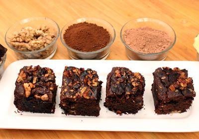 #Eggless #brownie #dessert http://www.foodfood.com/recipes/eggless-fudge-brownies/