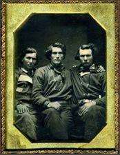 Quarter plate daguerreotype  of 3 Gold Miners   Greg French