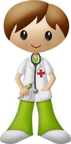 Brown haired nurse