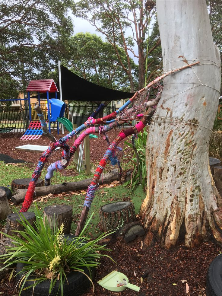 Woven stick creations at Explore & Develop Narraweena inspired by Aboriginal Central Desert Artists