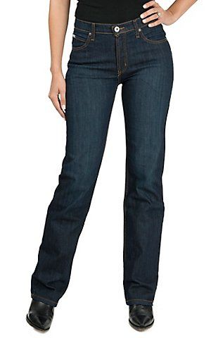 Cinch Women's Jenna Dark Wash Performance Rise Slim Fit Boot Cut Jean