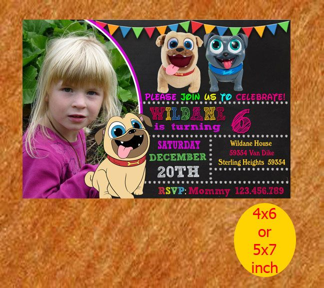 Puppy Dog Birthday Invitation, Puppy Dog Invitation, Puppy Dog Birthday, Puppy Dog Party, Puppy Dog Printable, Puppy Dog Instant Download by NutBirthdayInvite on Etsy