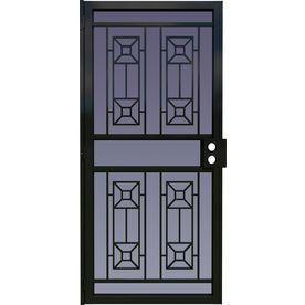 Larson 36 In X 81 In Matrix Black Steel Security Door